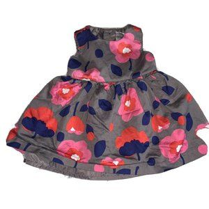 Carter's 3 Months Gray Red/pink Floral Dress